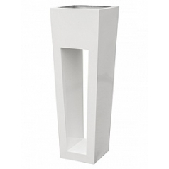 Кашпо Livingreen maxi flare hd polished brilliant whit Длина — 40 см