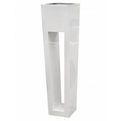 Кашпо Livingreen maxi flare hd polished brilliant white, белого цвета Длина — 40 см