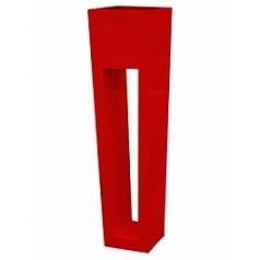 Кашпо Livingreen maxi flare hd polished flame red, красного цвета Длина — 40 см