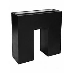 Кашпо Livingreen n planter 1 matt jet black, чёрного цвета Длина — 90 см
