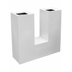 Кашпо Livingreen u planter 1 matt brilliant white, белого цвета Длина — 90 см