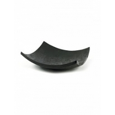 Блюдо Plants First Choice Element black, чёрного цвета bowl square Длина — 61 см