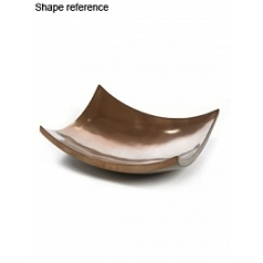 Блюдо Plants First Choice Element bronze, бронзового цвета bowl square Длина — 61 см