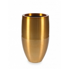 Кашпо Plants First Choice Aluminium planter bubba gold, под цвет золота-orange  Диаметр — 49 см