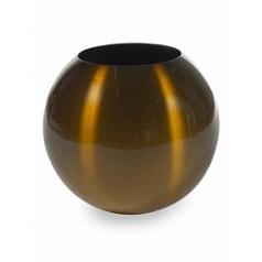 Кашпо Plants First Choice Aluminium planter sparkling brown, коричнево-бурого цвета-beige  Диаметр — 49 см