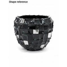 Кашпо Plants First Choice Boxer black, чёрного цвета round  Диаметр — 49 см