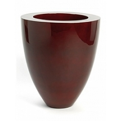 Кашпо Plants First Choice Poly plus exclusive oxblood red, красного цвета round  Диаметр — 51 см
