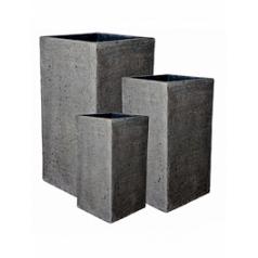 Кашпо Pottery Pots Eco-line bouvy S размер laterite grey, серого цвета Длина — 25 см