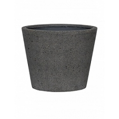 Кашпо Pottery Pots Eco-line bucket m, laterite grey, серого цвета  Диаметр — 50 см