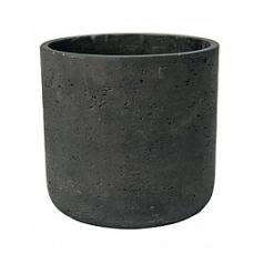 Кашпо Pottery Pots Eco-line charlie L размер black, чёрного цвета washed  Диаметр — 25 см