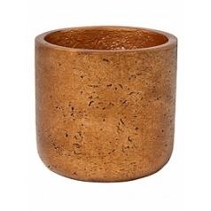 Кашпо Pottery Pots Eco-line charlie XL размер metalic copper  Диаметр — 32 см