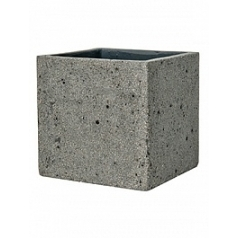 Кашпо Pottery Pots Eco-line fleur L размер laterite grey, серого цвета Длина — 25 см