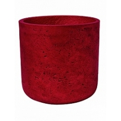 Кашпо Pottery Pots Eco-line mini charlie M размер metalic red, красного цвета  Диаметр — 18 см