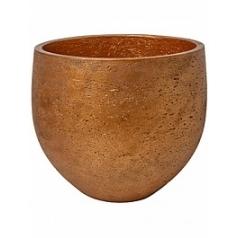 Кашпо Pottery Pots Eco-line mini orb L размер metalic copper  Диаметр — 32 см