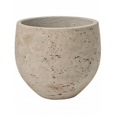Кашпо Pottery Pots Eco-line mini orb M размер grey, серого цвета washed  Диаметр — 25 см