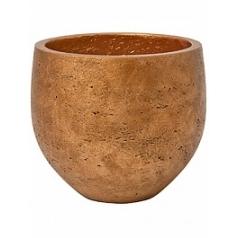 Кашпо Pottery Pots Eco-line mini orb M размер metalic copper  Диаметр — 25 см