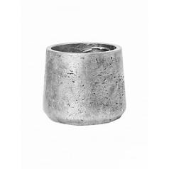 Кашпо Pottery Pots Eco-line mini patt M размер metalic под цвет серебра  Диаметр — 15 см