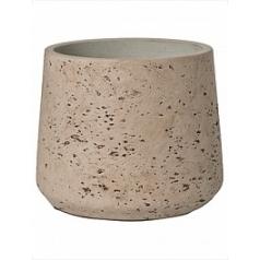Кашпо Pottery Pots Eco-line patt L размер grey, серого цвета washed  Диаметр — 20 см