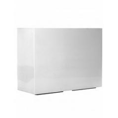 Кашпо Pottery Pots Fiberstone glossy white, белого цвета jort L размер Длина — 95 см