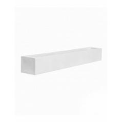 Кашпо Pottery Pots Fiberstone glossy white, белого цвета jort low M размер Длина — 200 см