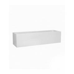 Кашпо Pottery Pots Fiberstone glossy white, белого цвета jort low S размер Длина — 100 см