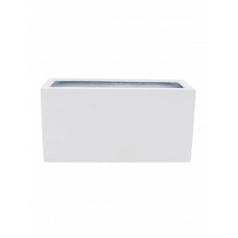 Кашпо Pottery Pots Fiberstone glossy white, белого цвета jort M размер Длина — 100 см