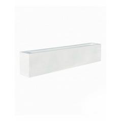 Кашпо Pottery Pots Fiberstone glossy white, белого цвета jort middle high Длина — 200 см