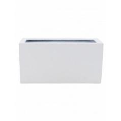 Кашпо Pottery Pots Fiberstone glossy white, белого цвета jort S размер Длина — 80 см