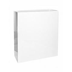 Кашпо Pottery Pots Fiberstone glossy white, белого цвета jort slim XL размер Длина — 91 см