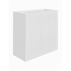 Кашпо Pottery Pots Fiberstone glossy white, белого цвета jort XL размер Длина — 100 см