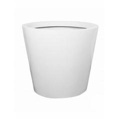 Кашпо Pottery Pots Fiberstone glossy white, белого цвета jumbo cone M размер  Диаметр — 98 см