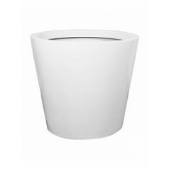 Кашпо Pottery Pots Fiberstone glossy white, белого цвета jumbo cone S размер  Диаметр — 83 см
