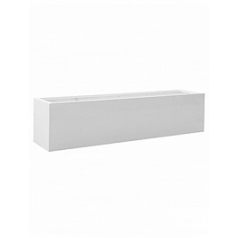 Кашпо Pottery Pots Fiberstone glossy white, белого цвета jumbo jort L размер Длина — 200 см