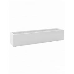 Кашпо Pottery Pots Fiberstone glossy white, белого цвета jumbo jort S размер Длина — 200 см
