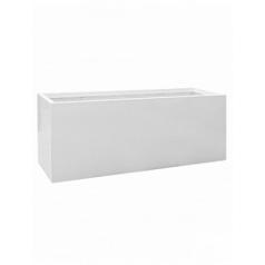 Кашпо Pottery Pots Fiberstone glossy white, белого цвета jumbo jort XL размер Длина — 200 см