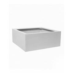 Кашпо Pottery Pots Fiberstone glossy white, белого цвета jumbo low M размер Длина — 73 см