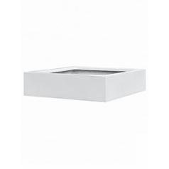 Кашпо Pottery Pots Fiberstone glossy white, белого цвета jumbo low XXL размер Длина — 140 см