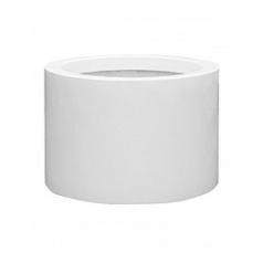 Кашпо Pottery Pots Fiberstone glossy white, белого цвета jumbo max middle high L размер  Диаметр — 90 см