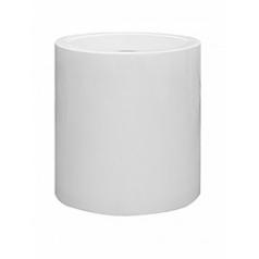 Кашпо Pottery Pots Fiberstone glossy white, белого цвета jumbo max middle high M размер  Диаметр — 70 см