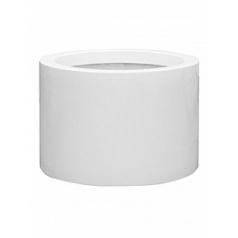Кашпо Pottery Pots Fiberstone glossy white, белого цвета jumbo max middle high XL размер  Диаметр — 110 см