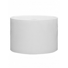 Кашпо Pottery Pots Fiberstone glossy white, белого цвета jumbo max middle high XXL размер  Диаметр — 140 см