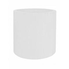 Кашпо Pottery Pots Fiberstone glossy white, белого цвета jumbo max XL размер  Диаметр — 110 см