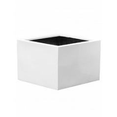 Кашпо Pottery Pots Fiberstone glossy white, белого цвета jumbo middle high M размер Длина — 70 см