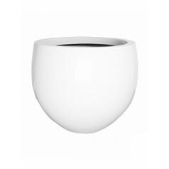 Кашпо Pottery Pots Fiberstone glossy white, белого цвета jumbo orb L размер  Диаметр — 133 см