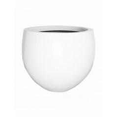 Кашпо Pottery Pots Fiberstone glossy white, белого цвета jumbo orb M размер  Диаметр — 110 см