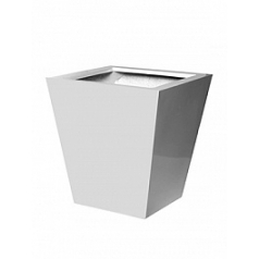 Кашпо Pottery Pots Fiberstone glossy white, белого цвета jumbo thom XL размер Длина — 110 см