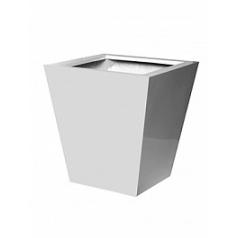 Кашпо Pottery Pots Fiberstone glossy white, белого цвета jumbo thom XXL размер Длина — 145 см