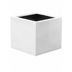 Кашпо Pottery Pots Fiberstone glossy white, белого цвета jumbo without feet L размер Длина — 90 см