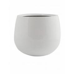 Кашпо Pottery Pots Fiberstone glossy white, белого цвета kevan M размер  Диаметр — 26 см