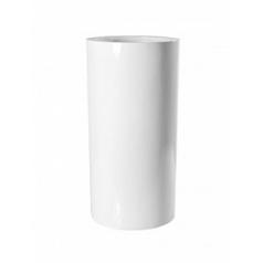 Кашпо Pottery Pots Fiberstone glossy white, белого цвета klax  Диаметр — 40 см